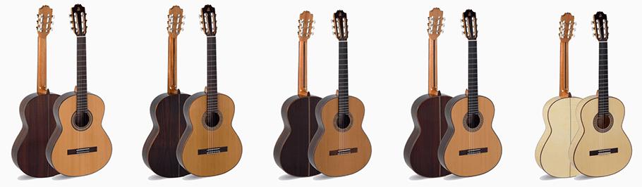 Catálogo de las guitarras de Admira