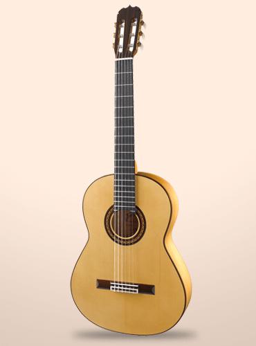 guitarra ramírez flamenca blanca
