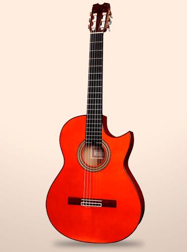 guitarra conde atocha cutaway electrificada