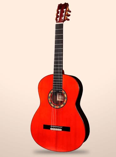 guitarra conde atocha palosanto de India rosas azules