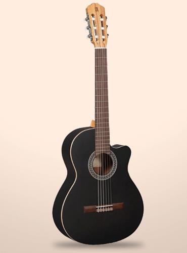 guitarra clásica alhambra black satin cw ez
