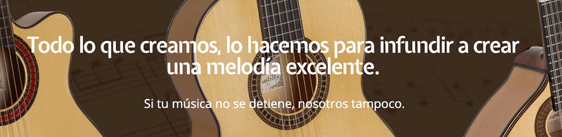 catálogo de precios de las guitarras de Paco Castillo